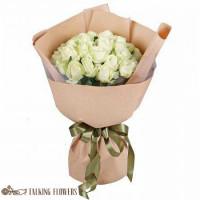 доставка цветов харьков Букет из белых роз