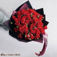 доставка цветов харьков Букет из красных кустовых роз
