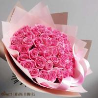 доставка цветов харьков Букет из розовых роз