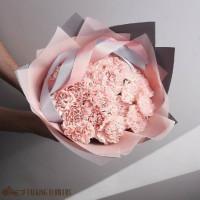 доставка цветов харьков Букет из розовых гвоздик