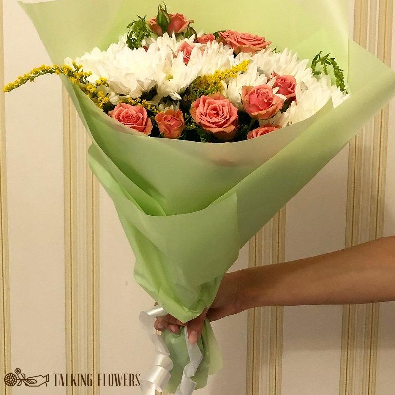 доставка цветов харьков Мини букет №3